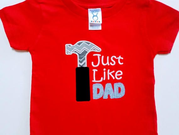 Just Like Daddy - Just Like Dad Shirt - Father's Day Gift - Baby Shower Gift - Ready To Ship - Boys Tool Shirt - Gift For Him - Hero Daddy by sweetbabycakesbows. Explore more products on http://sweetbabycakesbows.etsy.com