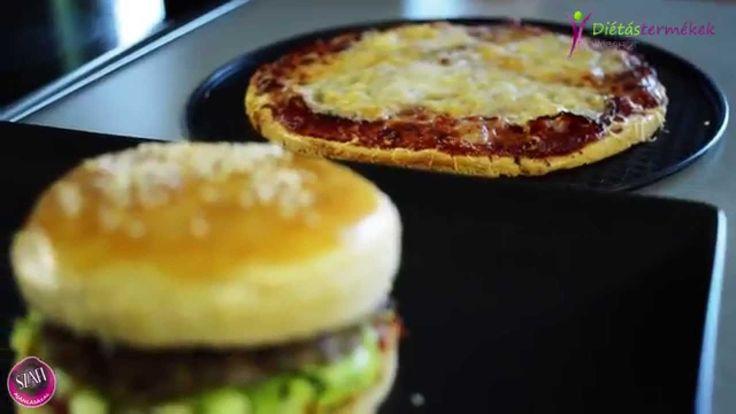 Paleo pizza és paleo hamburger recept (Szafi 2in1 recept)
