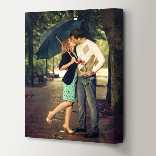 Photo canvas gallery wraps are perfect as wedding gifts, family photos, baby pictures and more. Buy just one or order a grouping of different shapes and sizes for a unique wall collage photo display.
