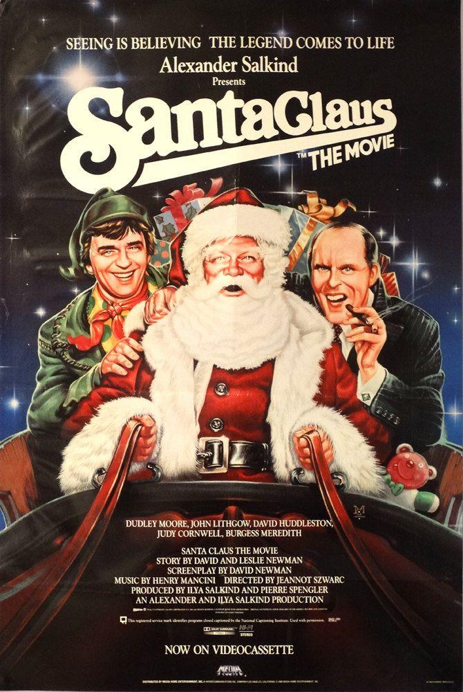 "Santa Claus:The Movie. 1986 Original US 24""x36"" Video Movie Poster. Dudley Moore,John Lithgow,David Huddleston(Santa Claus),Burgess Meredith by ArtisticSoulStudio on Etsy"