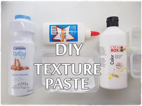 DIY Texture Paste on BUDGET ♡ Maremi's Small Art ♡