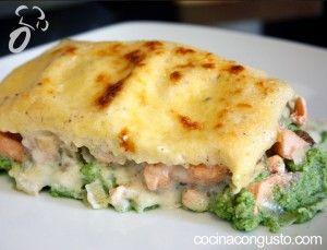 Lasagna de salmón y brócoli (12pp)