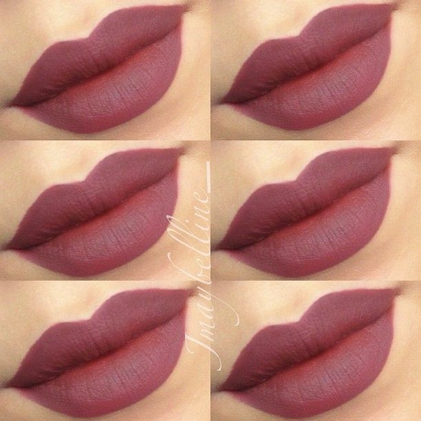"Dark Lips: ""PLUM"" lip liner all over the lips by MAC"
