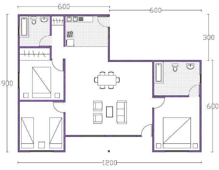 1595 best images about planos casas on pinterest house for 90m2 apartment plans