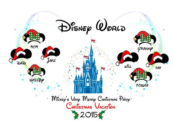 Mickey's Very Merry Christmas Party Christmas by Pixiedesigns89