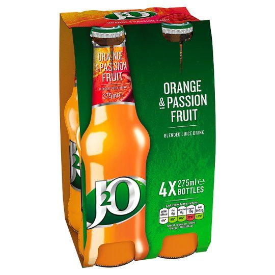 Britvic J2o Orange And Passion Fruit 4 X 275Ml - Groceries - Tesco Groceries