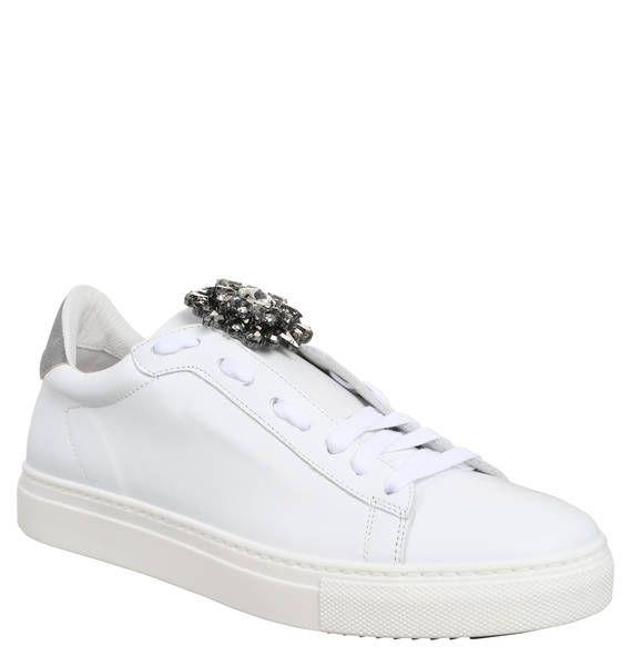 #STOKTON #Sneaker, #Strassblume, #Leder Sneaker, Strassblume, Leder Sneaker, Strassblume, Leder