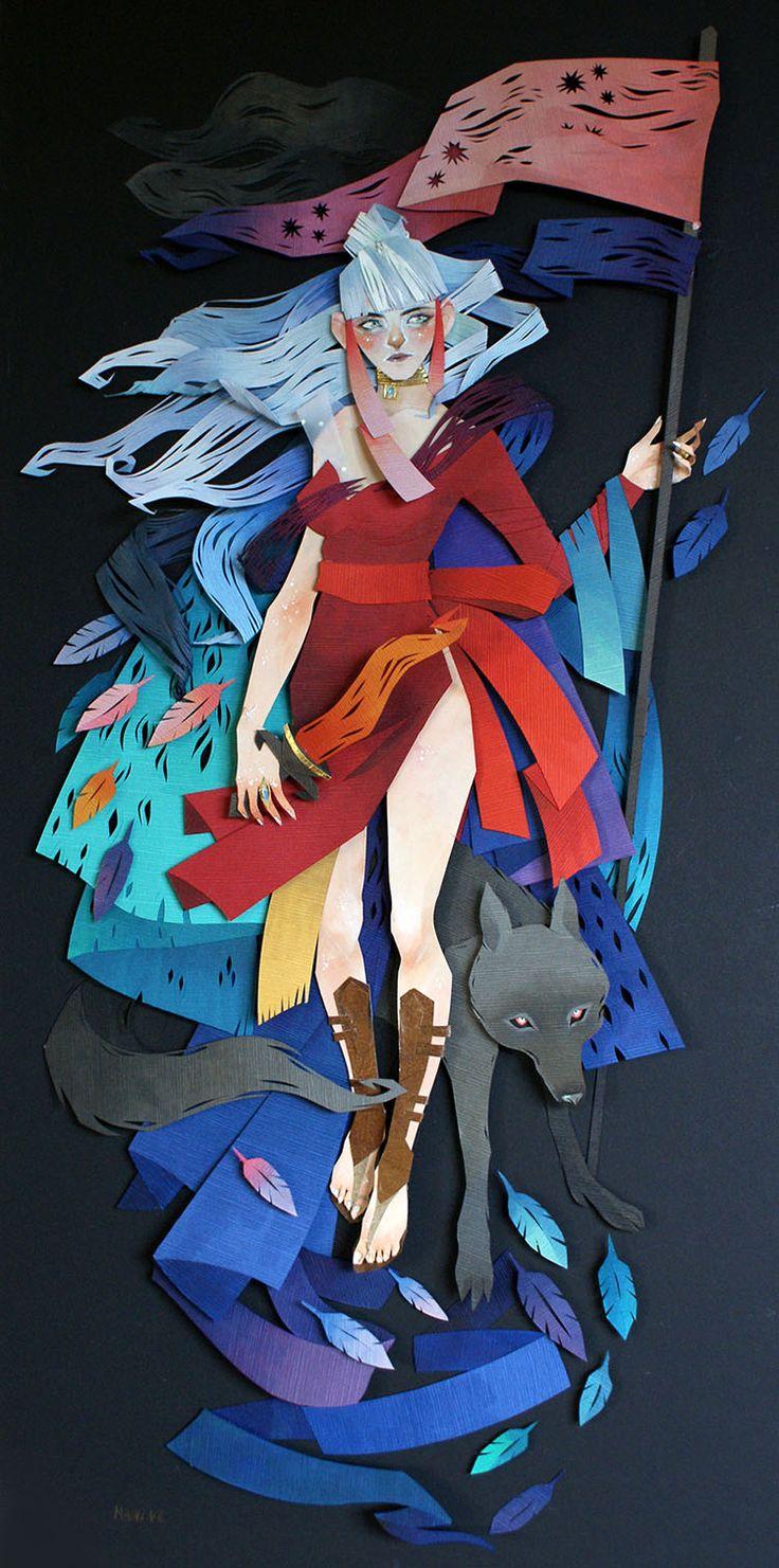 Ilustraciones 3D con Papel Cortado por Morgana Wallace | FuriaMag | Arts Magazine