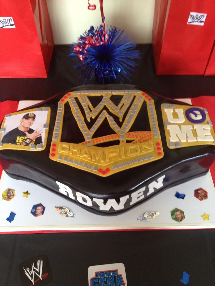WWE belt cake