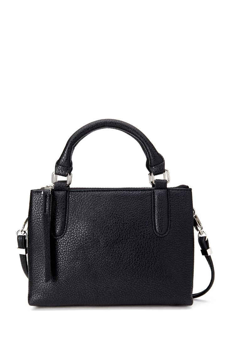 Double-Pocket Satchel #Accessories #Handbags