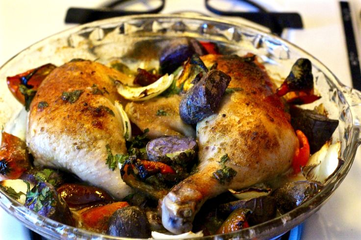 Midweek Delicacy Time: Latin Roasted Chicken with Poblano Peppers & Peruvian Potatoes – Say No To Food Waste- Ingrid!!