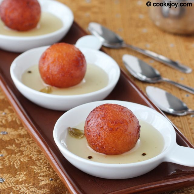 Cooks Joy - Gulab Jamun (Milk Powder Method)