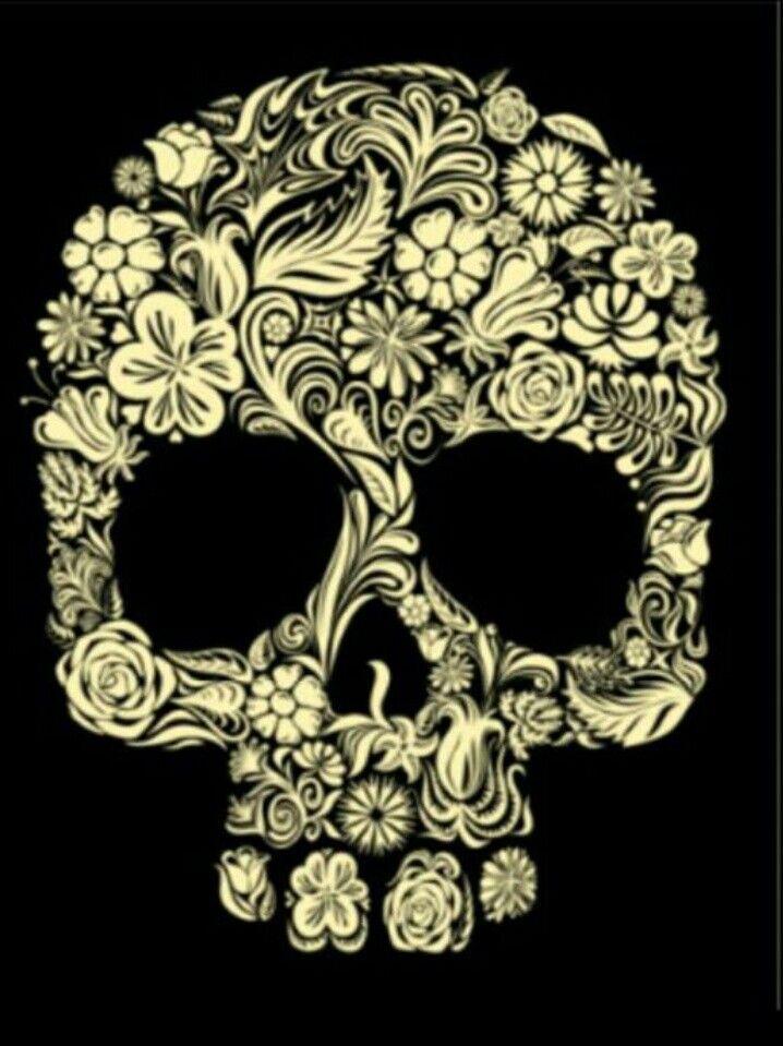 Skull tattoo idea, I like this kind of skull idea