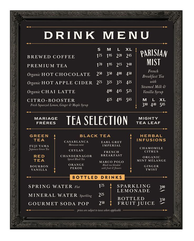 menu design blackboard inspired - Google-søk