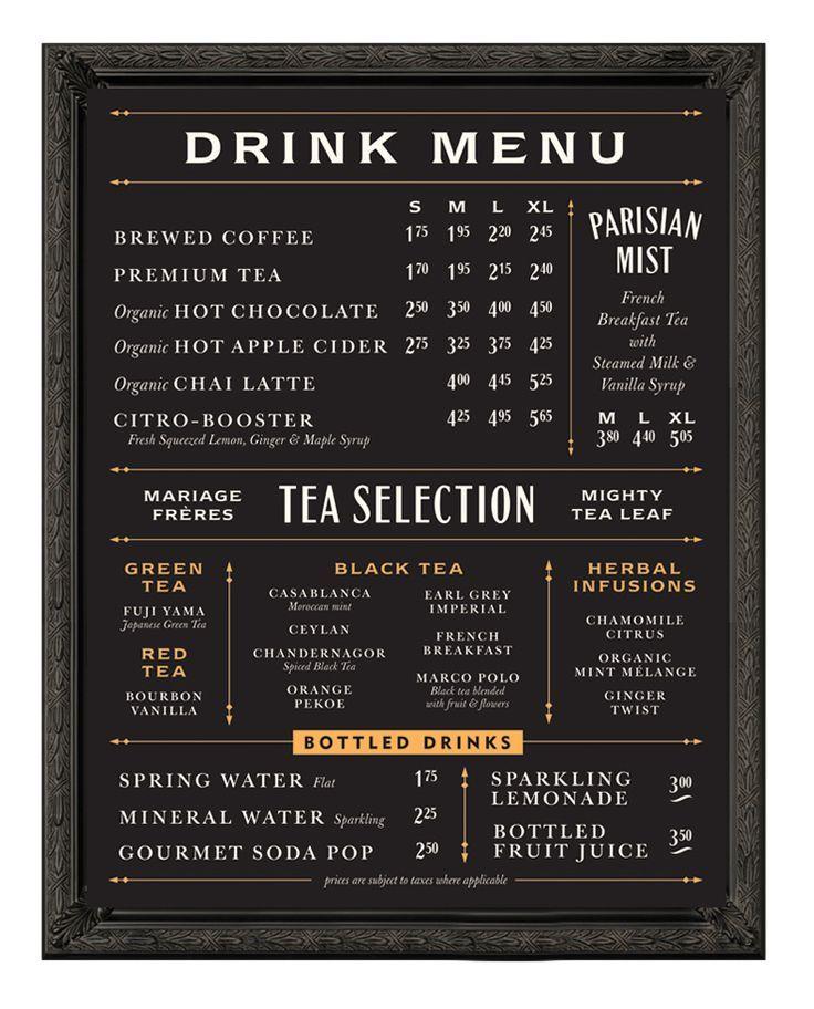 menu design blackboard inspired - Google-søk