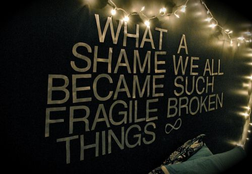 sometimes fragileMusic, Fragile Broken, Inspiration, Wall Quotes, Broken Things, Paramore, Shaming, Pictures Quotes, Bedrooms Wall