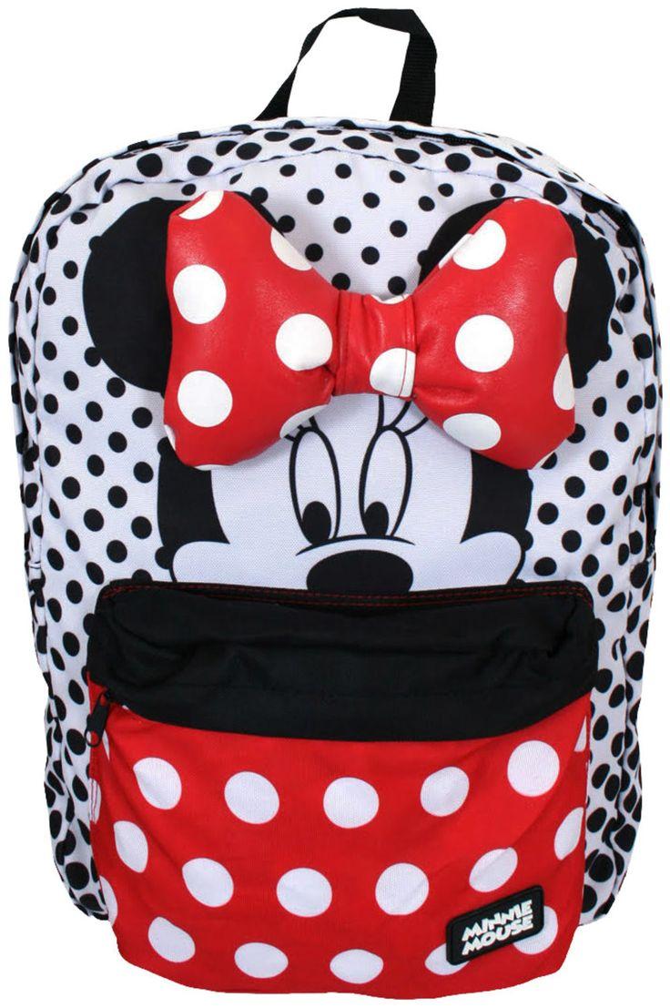 Polka Dot Minnie Mouse Backpack: Disney Mnnie Mouse Backpack