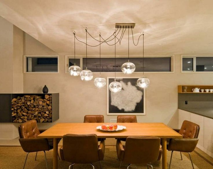 a perfect dining table in both look and function for your living area - 2 Pendant Lights Over Dining Table