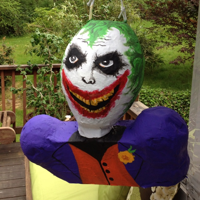 Joker piñata - for batman birthday!