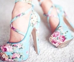 floral shoes~