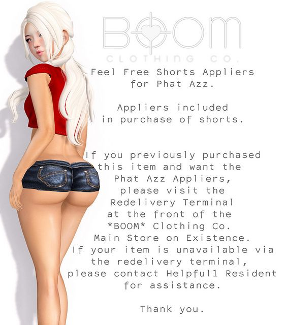 *BOOM* Phat Azz appliers for Feel Free Shorts. | Flickr - Photo Sharing!