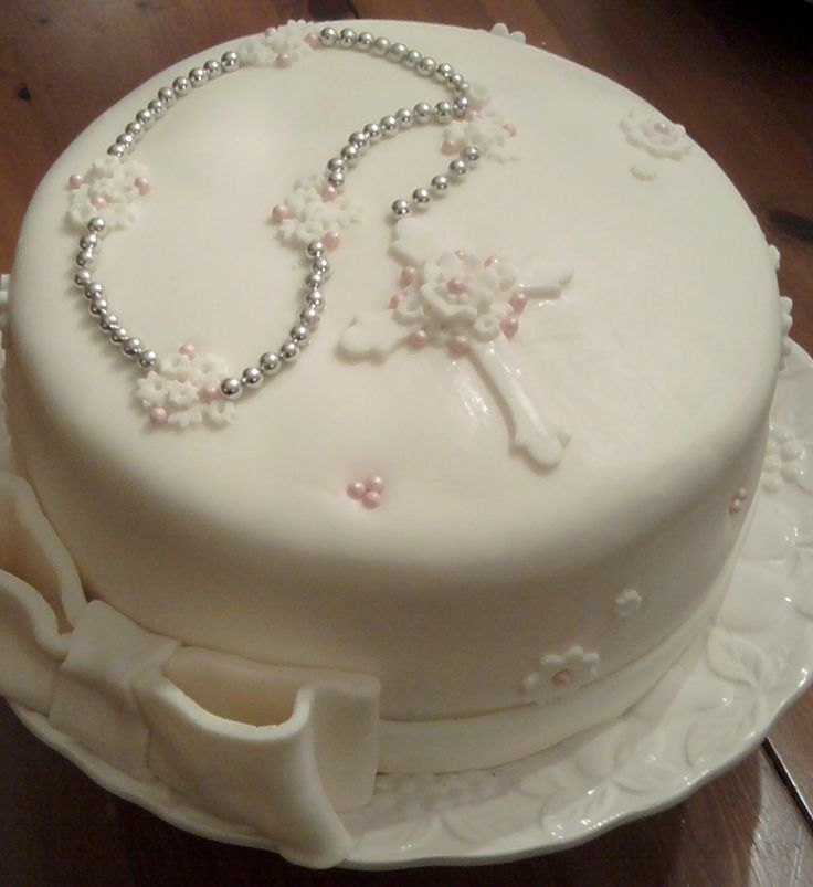 Rosary beads on a cake.  No reason to make one but it is pretty.