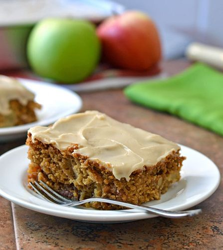 Fresh Apple Cake with Brown Sugar Frosting