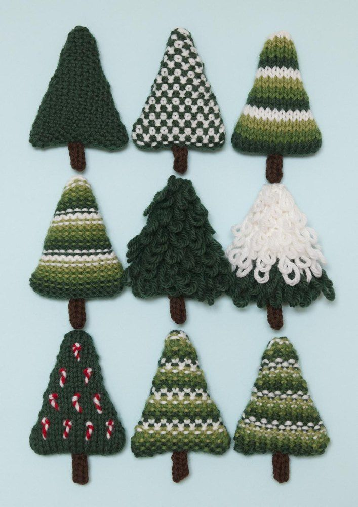 eaa802dfc6c821 Christmas Trees 4 Knitting pattern by Squibblybups
