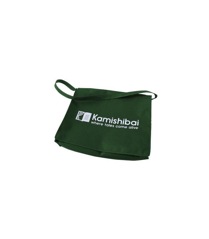 """Un sac à bandoulière en tissu """"Non Woven"""" avec la fermeture Velcro. Il est assez grand pour vous de porter un Théâtre Kamishibai PRO (A3)!"""