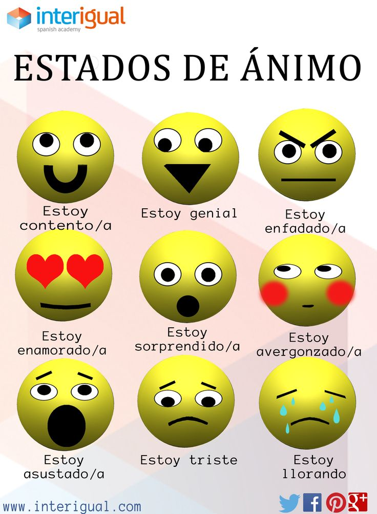 Estados de nimo en espa ol moods in spanish spanish for Pinterest en espanol