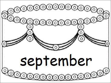 Verjaardagskalender (taart): september