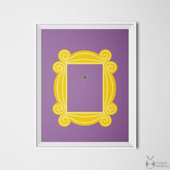 Friends TV Show Friends Peephole Frame Monica Ross Geller Rachel Green Joey…