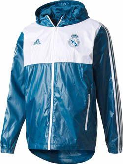 adidas Real Madrid Windbreaker - Petrol Night & White | SoccerMaster.com