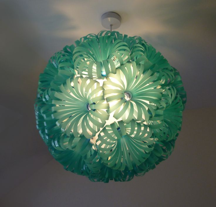 creative design by using Old Recycled Plastic Bottles and Caps - amazing lamp