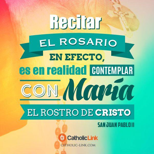 Biblioteca de Catholic-Link - Ell Rosario es contemplar con María el rostro de...