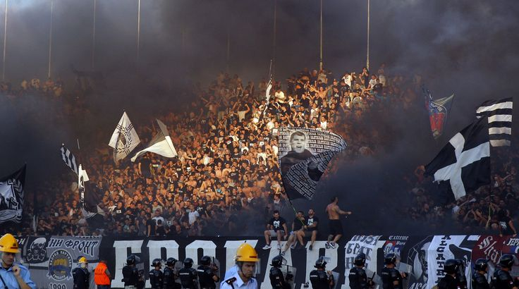 Grobari (Partizan fans), 152nd eternal derby (FK Partizan - cz 1:0)