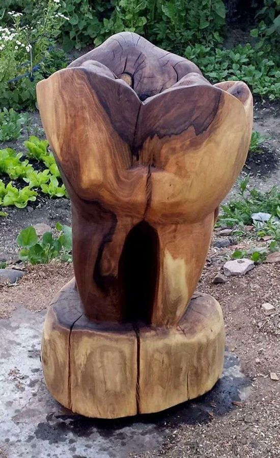 I would put this in my office or bAckyard lol   Molar wood art