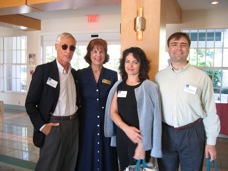 Dr. Joseph & Mary Ferrara with Vesna Petrovich and Thierry Chambon at the Florida Sister Cities State Conference at the Helmsley Sandcastle on Lido Key in Sarasota in 2005
