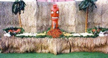 Luau Fruit Display