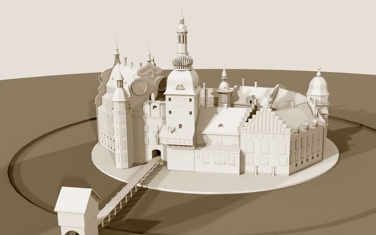 Brokop.com : 3D model of Christiansborg in 1658 before the fire
