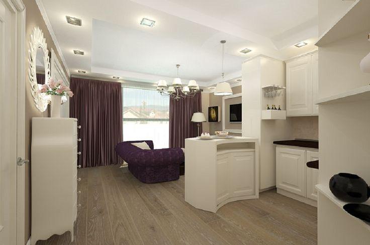 Design interior living apartament clasic