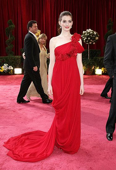 Wow, just wow, is all I have to say about Anne Hathaway's red Marchesa in 2008.