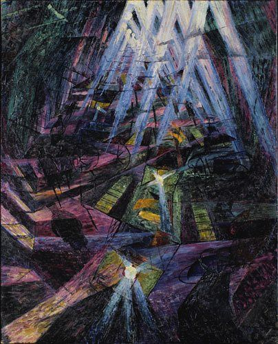 Umberto Boccioni's Forces of the Street, 1911