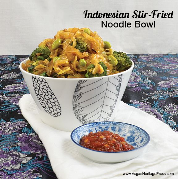 Indonesian Stir-Fried Noodle Bowl from Vegan Bowls by Zsu Dever