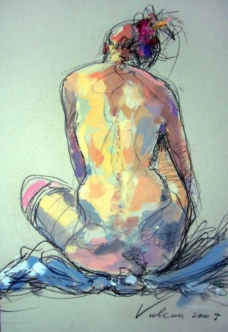 Marie-Mag_dos - Painting ©2010 by Raluca Vulcan -