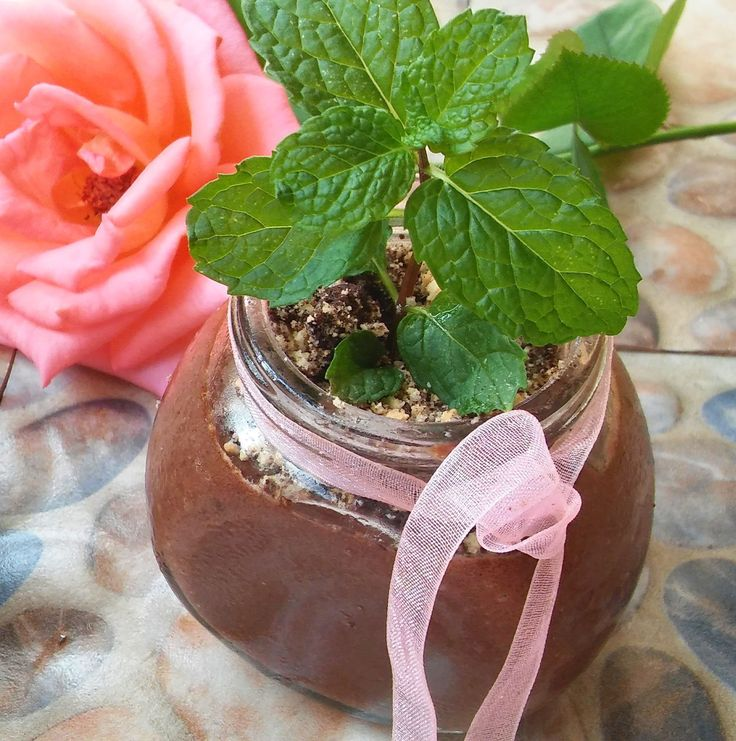Eggless Chocolate Mousse Mint Pots http://gardeningfoodie.co.za/eggless-chocolate-mousse-mint-pots/