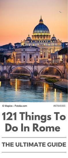 Em profundidade guia de viagens para Roma, Itália - aprender tudo sobre as melhores coisas para ver e fazer, atrações principais, excursões e passeios de um dia a partir da Cidade Eterna!