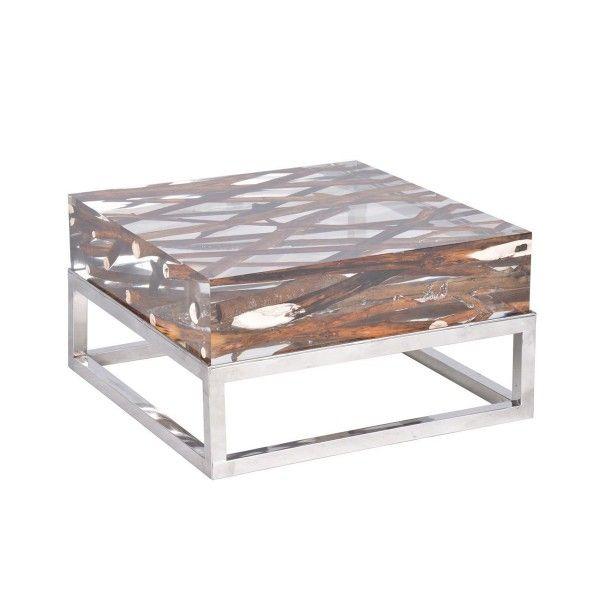 Table basse KISIMI - Bleu nature