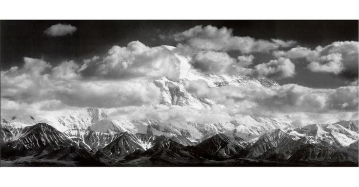 Ansel Adams Mt Mckinley Range Clouds Denali National