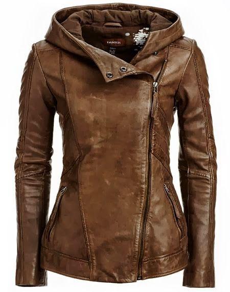 Gorgeous! Hooded Leather Jacket